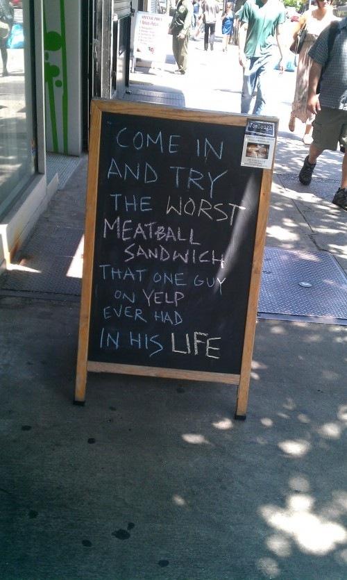 the worst meatball sandwich