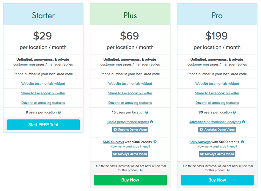New TalkToTheManager pricing tiers