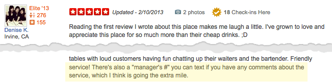 TalkToTheManager helping a Yelp review