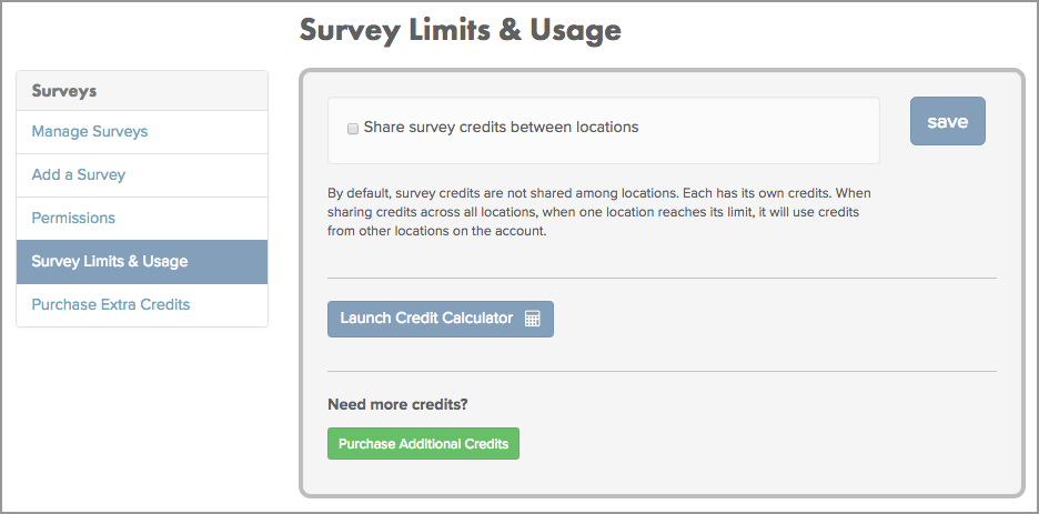 Manage text message surveys UI